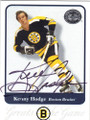 KENNY HODGE BOSTON BRUINS AUTOGRAPHED HOCKEY CARD #22014A