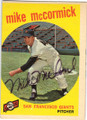 MIKE McCORMICK SAN FRANCISCO GIANTS AUTOGRAPHED VINTAGE BASEBALL CARD #22014L