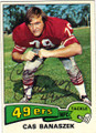 CAS BANASZEK SAN FRANCISCO 49ers AUTOGRAPHED VINTAGE FOOTBALL CARD #22014N