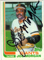 JOE MORGAN SAN FRANCISCO GIANTS AUTOGRAPHED VINTAGE BASEBALL CARD #22114G