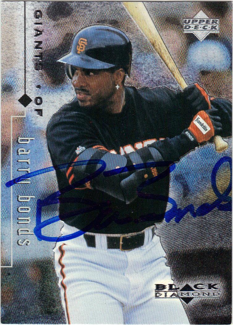 Barry Bonds San Francisco Giants Autographed Baseball Card 22114q