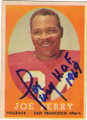 JOE PERRY SAN FRANCISCO 49ers AUTOGRAPHED VINTAGE FOOTBALL CARD #22214i