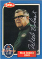 WEEB EWBANK NEW YORK JETS AUTOGRAPHED FOOTBALL CARD #22214T