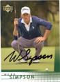 WEBB SIMPSON AUTOGRAPHED GOLF CARD #22314E