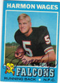 HARMON WAGES ATLANTA FALCONS AUTOGRAPHED VINTAGE FOOTBALL CARD #22314L