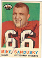 MIKE SANDUSKY PITTSBURGH STEELERS AUTOGRAPHED VINTAGE ROOKIE FOOTBALL CARD #22414J