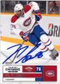 PK SUBBAN MONTREAL CANADIENS AUTOGRAPHED HOCKEY CARD #22414L