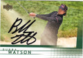 BUBBA WATSON AUTOGRAPHED GOLF CARD #22414S