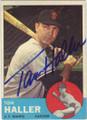 TOM HALLER SAN FRANCISCO GIANTS AUTOGRAPHED VINTAGE BASEBALL CARD #22414T