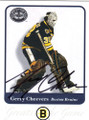 GERRY CHEEVERS BOSTON BRUINS AUTOGRAPHED HOCKEY CARD #22514K