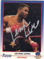 LENNOX LEWIS AUTOGRAPHED BOXING CARD #22514N