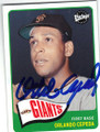 ORLANDO CEPEDA SAN FRANCISCO GIANTS AUTOGRAPHED BASEBALL CARD #22514S
