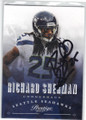 RICHARD SHERMAN SEATTLE SEAHAWKS AUTOGRAPHED FOOTBALL CARD #30314C