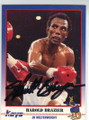 HAROLD BRAZIER AUTOGRAPHED BOXING CARD #30314D