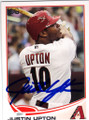 JUSTIN UPTON ARIZONA DIAMONDBACKS AUTOGRAPHED BASEBALL CARD #30414J