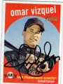 OMAR VIZQUEL SAN FRANCISCO GIANTS AUTOGRAPHED BASEBALL CARD #30614C