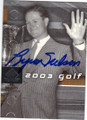 BYRON NELSON AUTOGRAPHED GOLF CARD #30614F