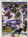 SIDNEY RICE SEATTLE SEAHAWKS AUTOGRAPHED FOOTBALL CARD #30614G