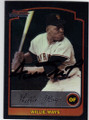 WILLIE MAYS SAN FRANCISCO GIANTS AUTOGRAPHED BASEBALL CARD #30614K