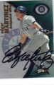 EDGAR MARTINEZ SEATTLE MARINERS AUTOGRAPHED BASEBALL CARD #30614M