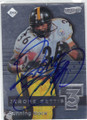JEROME BETTIS PITTSBURGH STEELERS AUTOGRAPHED FOOTBALL CARD #31014C