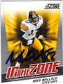 MIKE WALLACE PITTSBURGH STEELERS AUTOGRAPHED FOOTBALL CARD #31414A