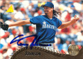 RANDY JOHNSON SEATTLE MARINERS AUTOGRAPHED BASEBALL CARD #31514F
