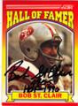 BOB ST. CLAIR SAN FRANCISCO 49ers AUTOGRAPHED FOOTBALL CARD #32114i