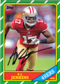 AJ JENKINS SAN FRANCISCO 49ers AUTOGRAPHED ROOKIE FOOTBALL CARD #32214A
