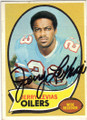 JERRY LEVIAS HOUSTON OILERS AUTOGRAPHED VINTAGE FOOTBALL CARD #32314C