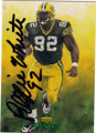REGGIE WHITE GREEN BAY PACKERS AUTOGRAPHED FOOTBALL CARD #32414M