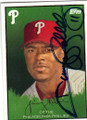 JIMMY ROLLINS PHILADELPHIA PHILLIES AUTOGRAPHED BASEBALL CARD #33014R