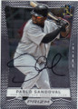 PABLO SANDOVAL SAN FRANCISCO GIANTS AUTOGRAPHED BASEBALL CARD #33114O