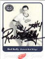 RED KELLY DETROIT RED WINGS AUTOGRAPHED HOCKEY CARD #33114S