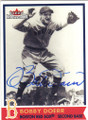 BOBBY DOERR BOSTON RED SOX AUTOGRAPHED BASEBALL CARD #33114T