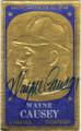 WAYNE CAUSEY KANSAS CITY ATHLETICS AUTOGRAPHED VINTAGE BASEBALL CARD #40114E