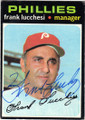 FRANK LUCCHESI PHILADELPHIA PHILLIES AUTOGRAPHED VINTAGE BASEBALL CARD #40114O