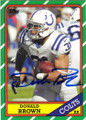 DONALD BROWN INDIANAPOLIS COLTS AUTOGRAPHED FOOTBALL CARD #40814K