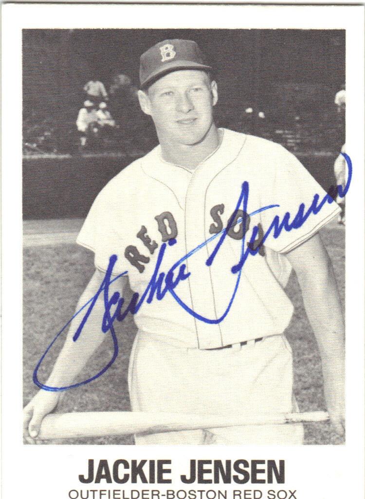Jackie Jensen Boston Red Sox Autographed Vintage Baseball Card 40914e