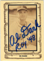 AL DARK BOSTON BRAVES AUTOGRAPHED VINTAGE BASEBALL CARD #41414E