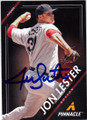 JON LESTER BOSTON RED SOX AUTOGRAPHED BASEBALL CARD #41514C