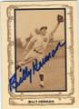 BILLY HERMAN CHICAGO CUBS AUTOGRAPHED VINTAGE BASEBALL CARD #41514D