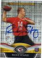 RICKY STANZI KANSAS CITY CHIEFS AUTOGRAPHED ROOKIE FOOTBALL CARD #41514P