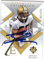 JEREMY SHOCKEY NEW ORLEANS SAINTS AUTOGRAPHED & NUMBERED FOOTBALL CARD #41614B