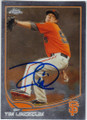 TIM LINCECUM SAN FRANCISCO GIANTS AUTOGRAPHED BASEBALL CARD #41614G