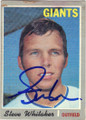STEVE WHITAKER SAN FRANCISCO GIANTS AUTOGRAPHED VINTAGE BASEBALL CARD #42114A