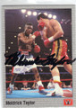 MELDRICK TAYLOR AUTOGRAPHED BOXING CARD #42114i