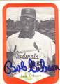 BOB GIBSON ST LOUIS CARDINALS AUTOGRAPHED VINTAGE BASEBALL CARD #42514B