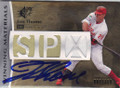 JIM THOME PHILADELPHIA PHILLIES AUTOGRAPHED PIECE OF THE GAME BASEBALL CARD #42514D