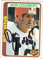 DON COCKROFT CLEVELAND BROWNS AUTOGRAPHED VINTAGE FOOTBALL CARD #42514H